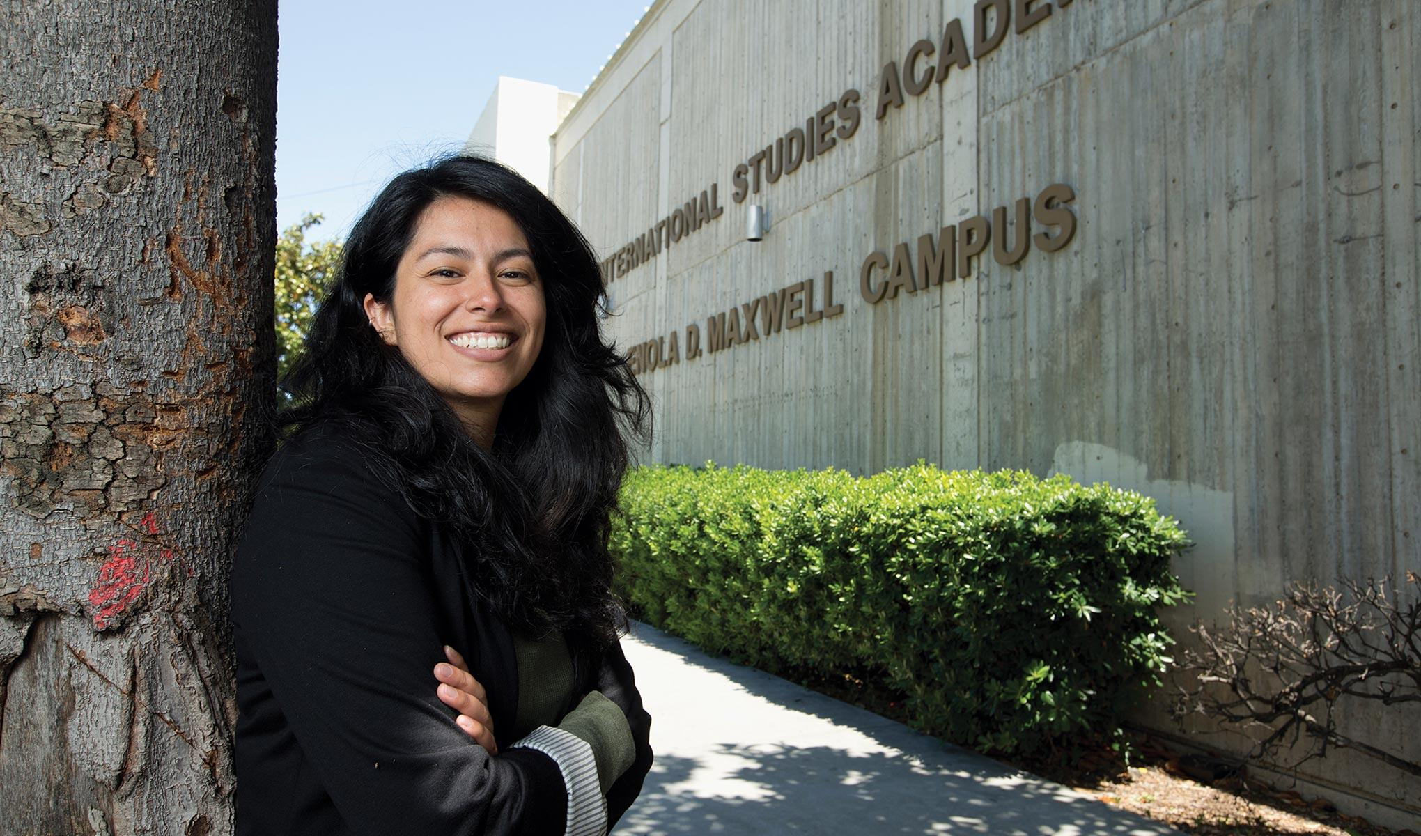 A photo of Norma Hernandez, a math teacher and former Noyce Scholar at SF State.