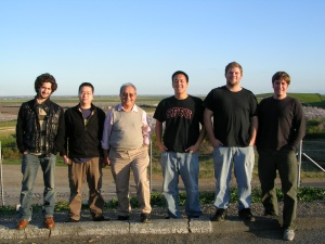 A photo of five students and Professor Ganji