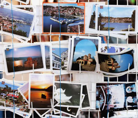 A photo of international post cards